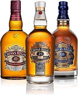 Chivas Regal Scotch Whisky Dreierset, 12 Jahre  18 Jahre  25 Jahre, Whiskey, Alkohol, 3 x 700 ml