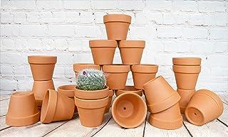 My Urban Crafts 24 Pcs Small Terra Cotta Pots 2.5 x 3 inch Mini Flower Clay Pots with Drainage Hole Ceramic Pottery Terrac...