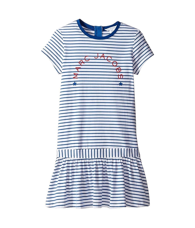 [マークジェイコブス] Little Marc Jacobs レディース Mariniere Dress (Little Kids/Big Kids) ドレス Blanc/Blue 6 (Little Kids) [並行輸入品]