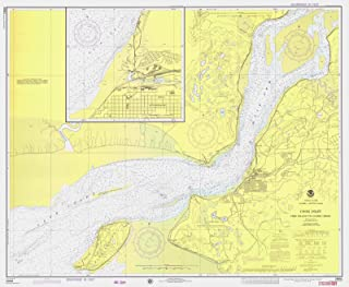 Map - Cook Inlet Fire Island To Goose Creek, AK, 1975 Nautical NOAA Chart - Vintage Wall Art - 55in x 44in