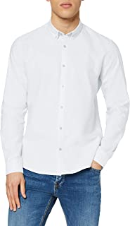Marca Amazon - find. Camisa Oxford de Manga Larga Hombre