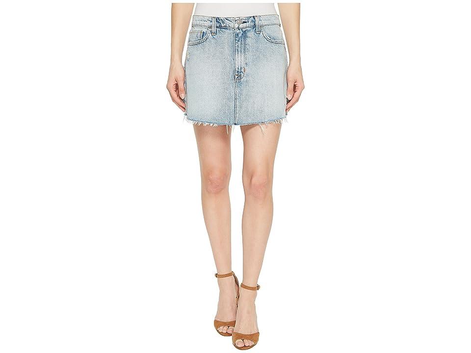 Hudson Vivid Denim Mini Skirt w/ Raw Hem in High Dry (High/Dry) Women