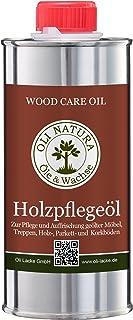 OLI-NATURA Holz-Pflegeöl für innen geeignet für Möbel, Treppe, Parkett und Holz-Boden, 0.25 Liter, Farblos/natur