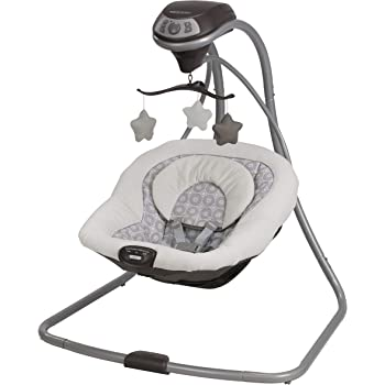 Graco Simple Sway Baby Swing | 2 Speed Vibration, Abbington