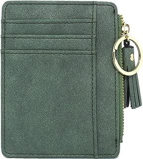 imeetu Slim Card Case Leather Card Holder, Front Pocket Wallets