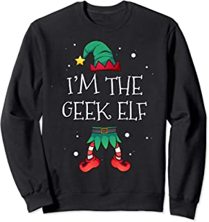 I'm The Geek Elf Matching Family Costume Clothing Christmas Sweatshirt