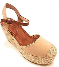 VICTORIA ADAMES Espadrille Wedges Woman Shoes Beige