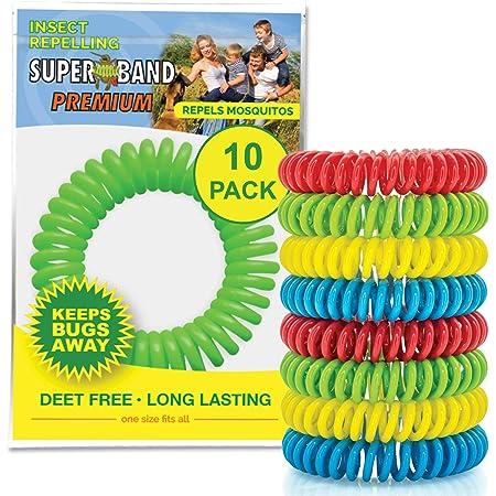 Mosquito Repellent Bracelet étanche Outdoor bug répulsif 6 Pack