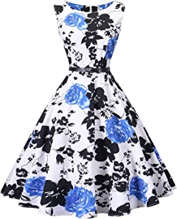 b0c30439394e I2CRAZY Women s Cocktail Dress Sleeveless Vintage 1950s Retro Rockabilly  Prom Tea Dresses with Belt