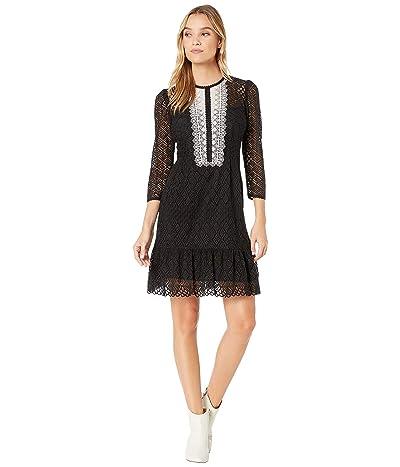 Nanette Lepore Victorian Lace Dress (Black) Women