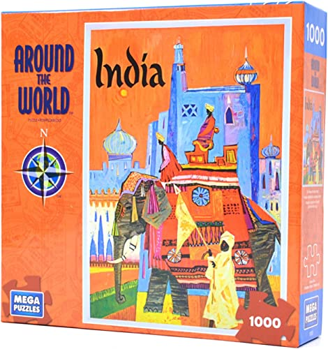 Around The World - India 1000 Piece Puzzle by Mega Puzzles