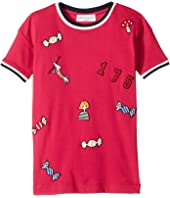 Sonia Rykiel Kids - Short Sleeve Rykiel Motives Patch Dress (Toddler/Little Kids)