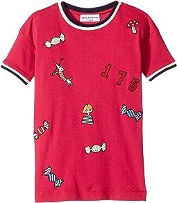 Sonia Rykiel Kids - Short Sleeve Rykiel Motives Patch Dress (Toddler/Little Kids)