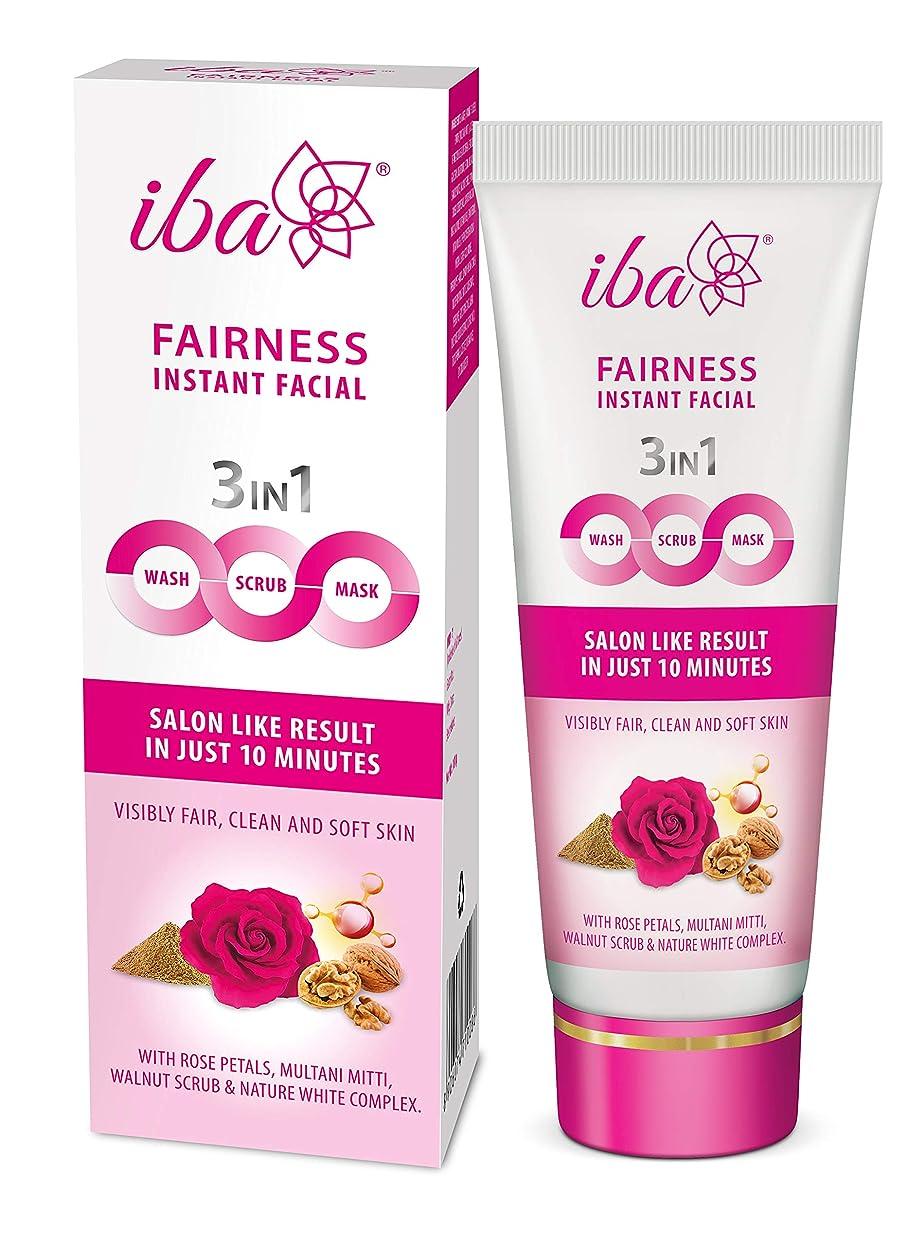 視線母性理論Iba Halal Care Fairness Instant Facial (3in1 Mask Scrub Facial Wash), 100g