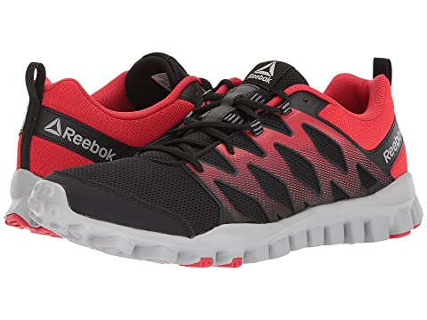 Reebok Men's Realflex Train 4.0 Running Shoes (Black/Primal Red/Stark Grey)
