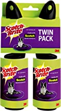 Scotch-Brite Pet Hair & Lint Roller, Twin Pack, Works Great On Pet Hair, 2 Rollers, 56 Sheets Per Roller