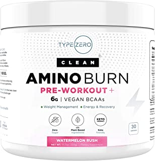 Sponsored Ad - Amino Burn – Vegan BCAA + Pre Workout Powder (6g | Watermelon) Sugar-Free BCAAs Amino Acids & Natural Keto ...