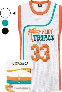 AFLGO Moon #33 'Flint Tropics' Jackie Basketball Stitched Jersey S-XXXL 90S Costume Hip Hop Party Clothing