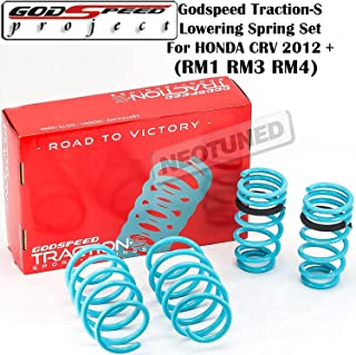 Godspeed (LS-TS-HA-0013) Traction-S Lowering Spring Set For Honda CRV 2012+ UP gsp set kit RM1 RM3 RM4