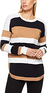 French Connection Women's Summer Varsity, Tan/Black/Summer White