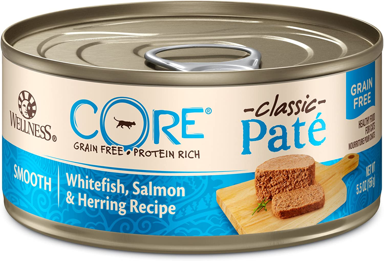 Wellness Core Natural Grain Free Wet Canned Cat Food Whitefish, Salmon &l Herring