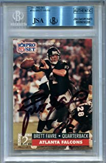 brett favre autographed rookie card