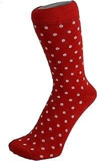 Men Cotton Rich Polka Dot Design Everyday Ankle Socks Size 6-11