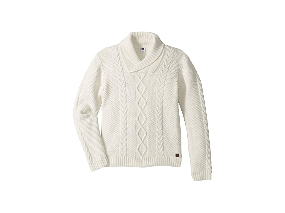 Janie and Jack Cable Knit Shawl Neck Sweater (Toddler/Little Kids/Big Kids) (Cream) Boy