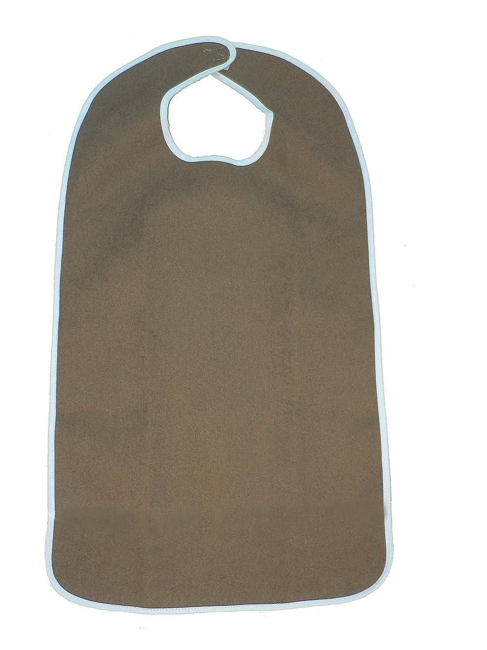 FlexaMed Waterproof Terry Cloth Adult Bib w/ Velcro Closure (Hunter Green - 16