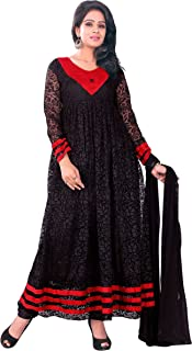Florence Women's Art Silk Straight Salwar Suit Set (SB-2702-Aug2019_Black_One Size)