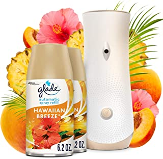 Glade Automatic Spray Refill and Holder Kit, Air Freshener for Home and Bathroom, Hawaiian Breeze, 6.2 Oz, 2 Count