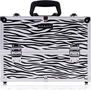 SHANY Essential Pro Makeup Train Case with Shoulder Strap and Locks - Zebra