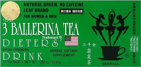 3 Ballerina Tea Dieters Drink, Extra Strength, 18-Count Tea Bags