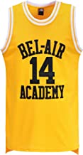 MOLPE Smith #14 Bel Air Academy Yellow Basketball Jersey S-XXXL, 90S Hip Hop Clothing for Party, Stitched Letters and Numbers