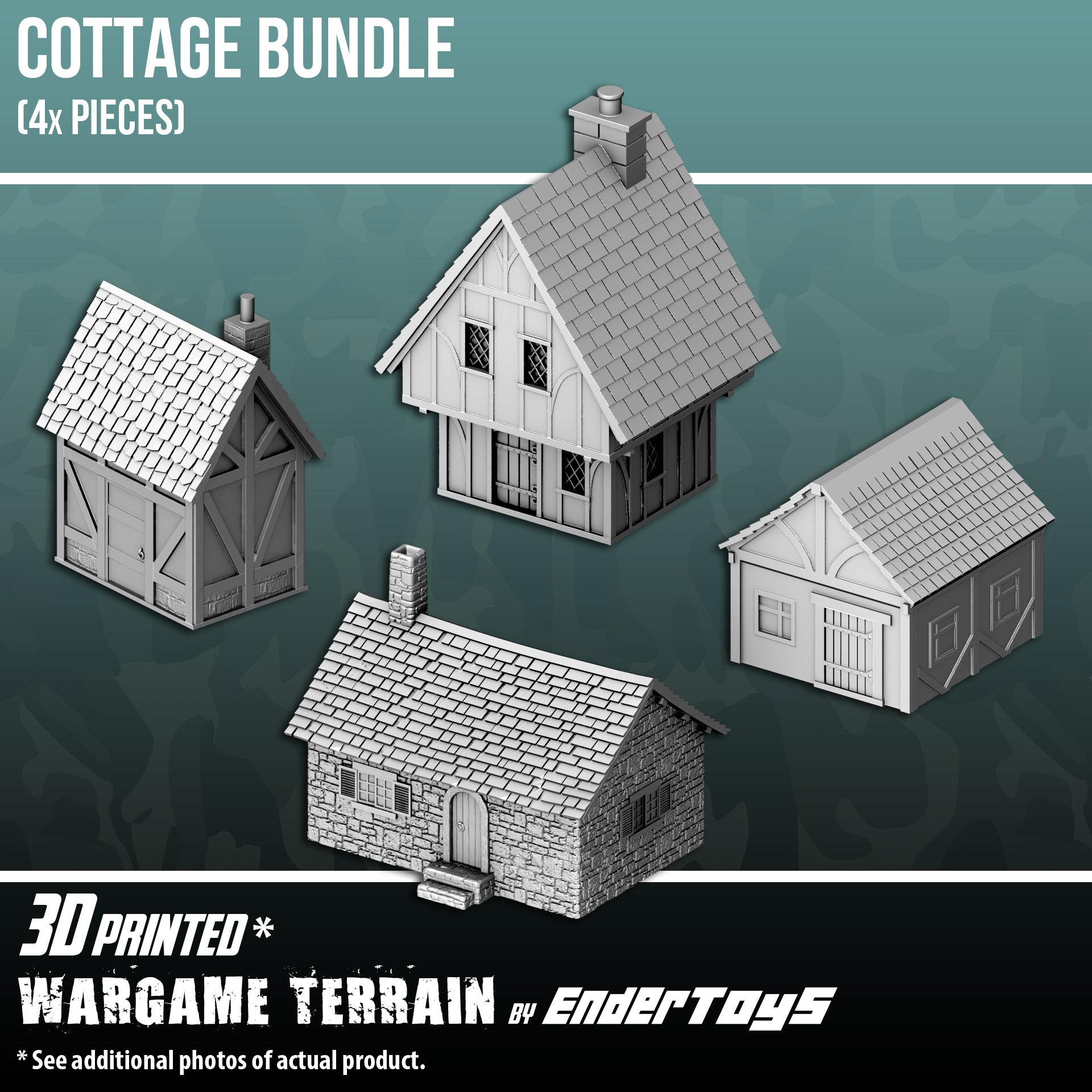 Cottage Bundle, Terrain Scenery for Tabletop 28mm Miniatures ...