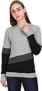 FLEXIMAA Full Sleeve Color Block Women Sweatshirt