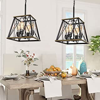 Trongee Farmhouse Pendant Lighting Fixture, Metal Frame...