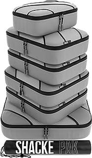 Shacke Adventurer 7pcs Packing Cube - Travel Luggage packing Organizers (Grey, Set)