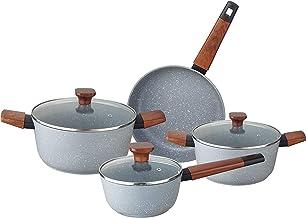 Alberto 7Pcs Non Stick Grey Cookware Set, 100074775