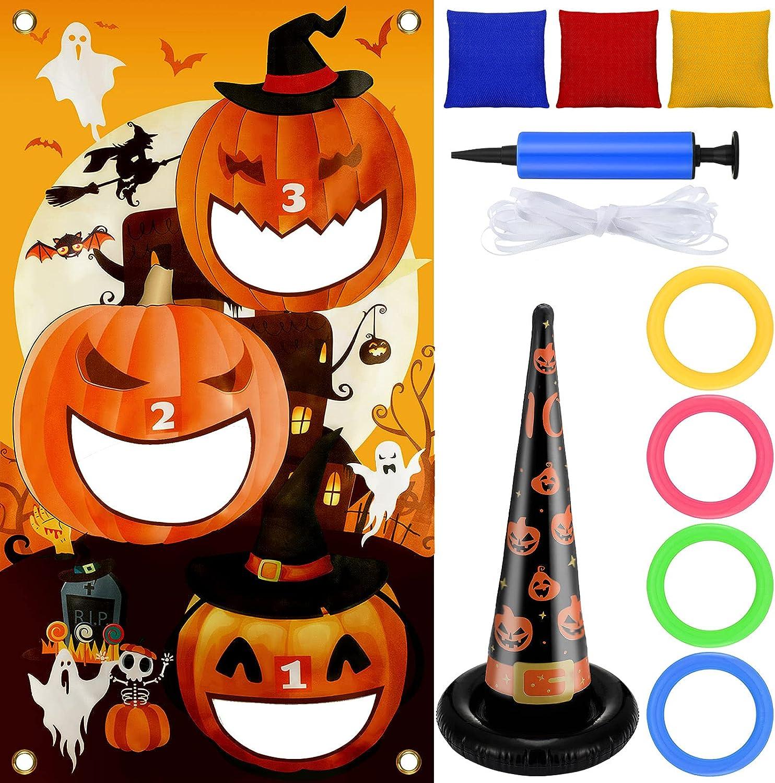 11 Free Shipping Cheap Bargain Gift Pieces Halloween Throwing Game Bag Set Bean Same day shipping Toss Pumpkin