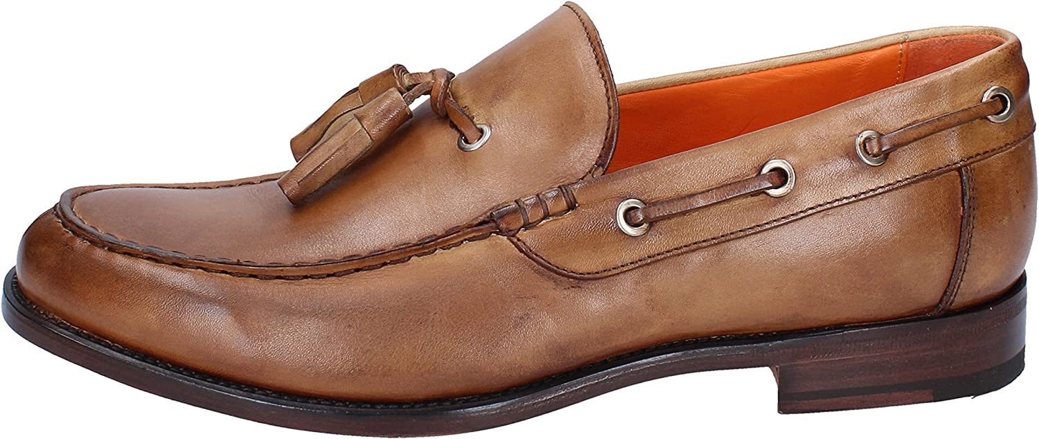 CALPIERRE Loafers-shoes Mens Leather Brown