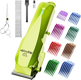 Dog Clippers Cordless Dog Grooming Kit Professional Electric Rechargeable Pet Hair Clipper Trimmer Shaver with Comb Guides...