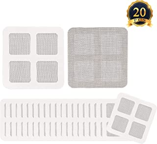 HaiMay 20 Pcs Door and Window Screen Repair Kit,Anti-Insect Fly Door Window Mosquito Screen Repair Mesh Tape Kit,4x4 inch