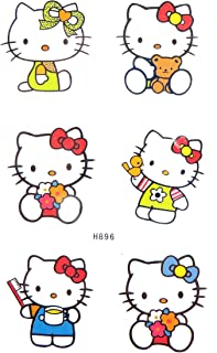 Hello kitty temporary tattoo summer body decal shoulder arm finger