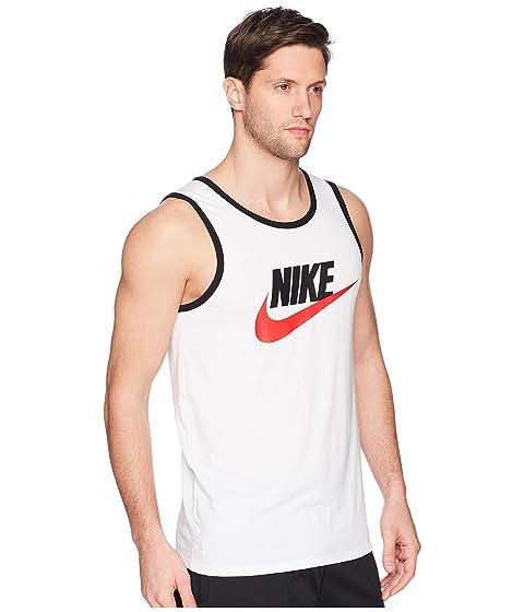 rojo universitario negro tirantes de Camiseta Nike con blanco logo Ace nqxv085z0S