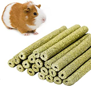 sharllen (20sticks Natural Gold Oat Grass Molar Rod Pet Snacks Chew Toys for Rabbit Hamsters Guinea Pig Chinchillas Squirrel and Other Small Animals