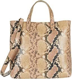 The Zip Top Small Transport Crossbody: Snake Embossed Edition