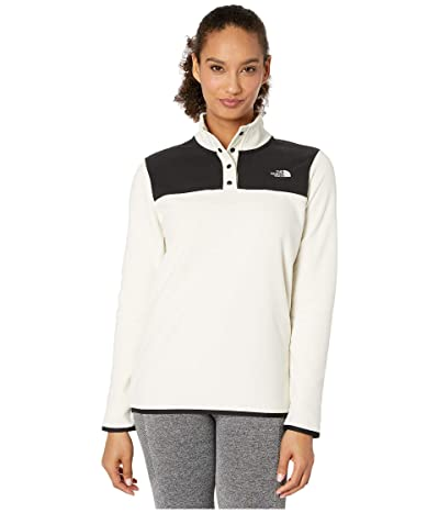 The North Face TKA Glacier Snap-Neck Pullover (Vintage White/TNF Black) Women