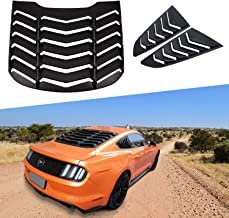 Rear and Side Window Louvers Matte Black ABS Window Visor Sun Shade Cover Vent in GT Lambo Style for Ford Mustang 2015 2016 2017 2018