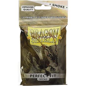 Dragon Shield Perfect Fit SMOKE Card Protectors Sleeves Standard 100ct 63 x 88mm